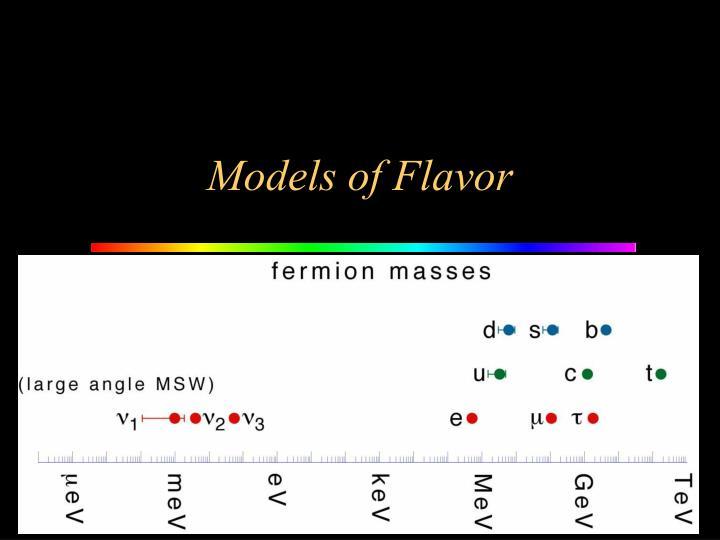 Models of Flavor