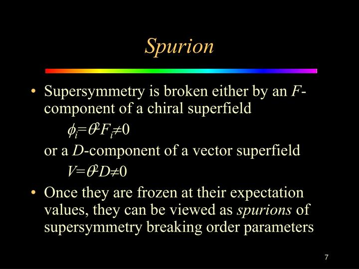 Spurion