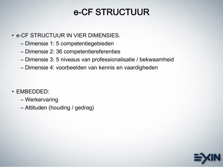 e-CF STRUCTUUR