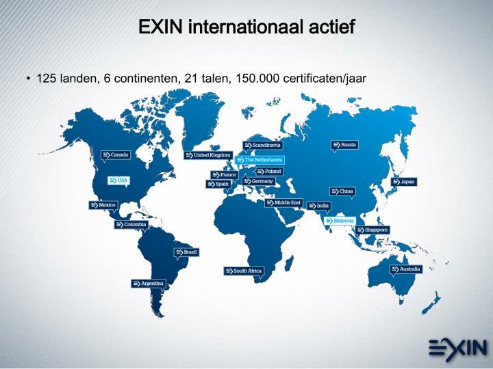 EXIN internationaal actief