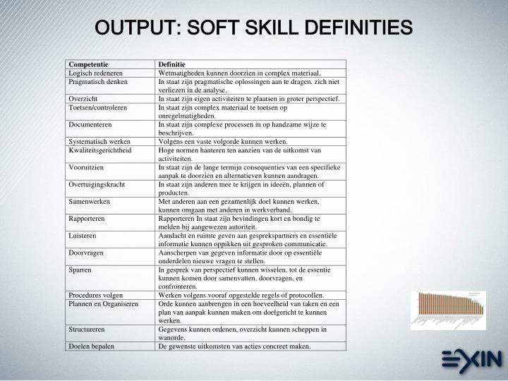 OUTPUT: SOFT SKILL DEFINITIES