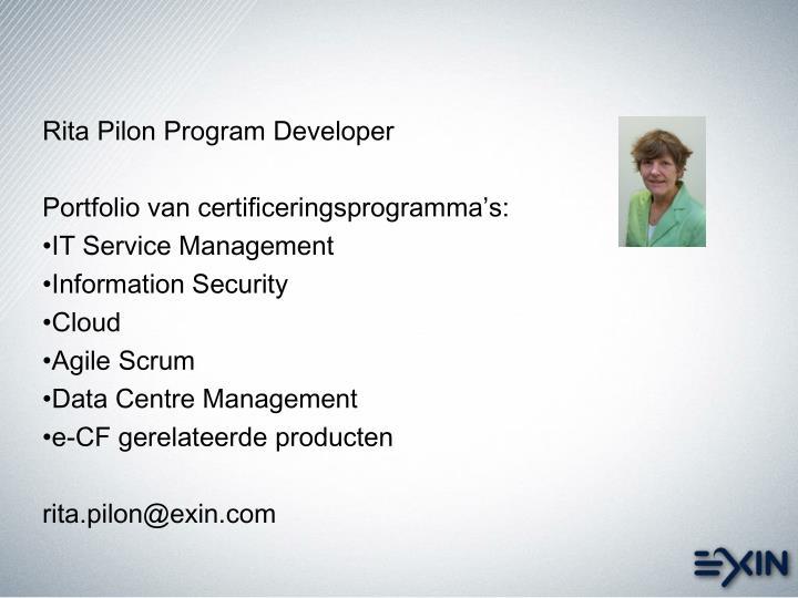 Rita Pilon Program Developer
