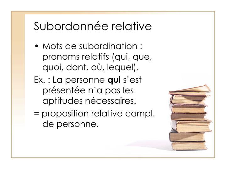 Subordonnée relative