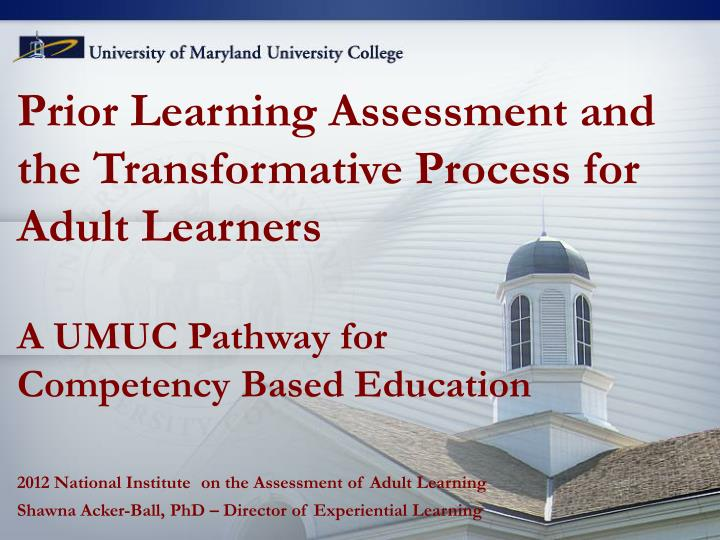 transformational learning for adult continuing education essay