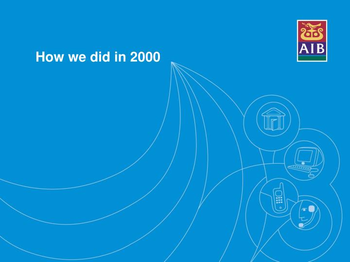 How we did in 2000