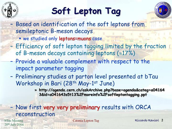 Soft lepton tag