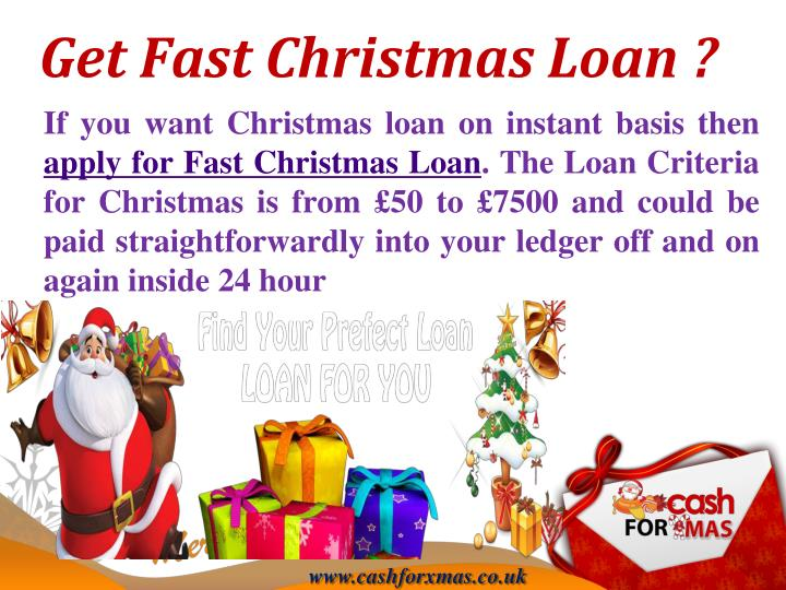 Get fast christmas loan