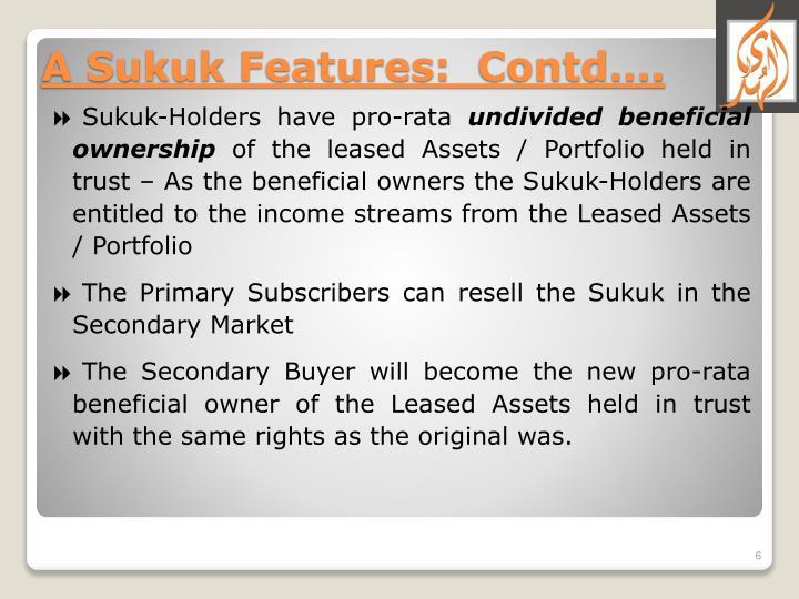 Sukuk-Holders have pro-rata