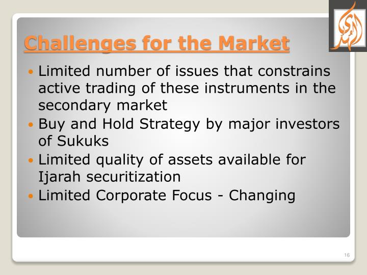 Limited number of issues that constrains active trading of these instruments in the secondary market
