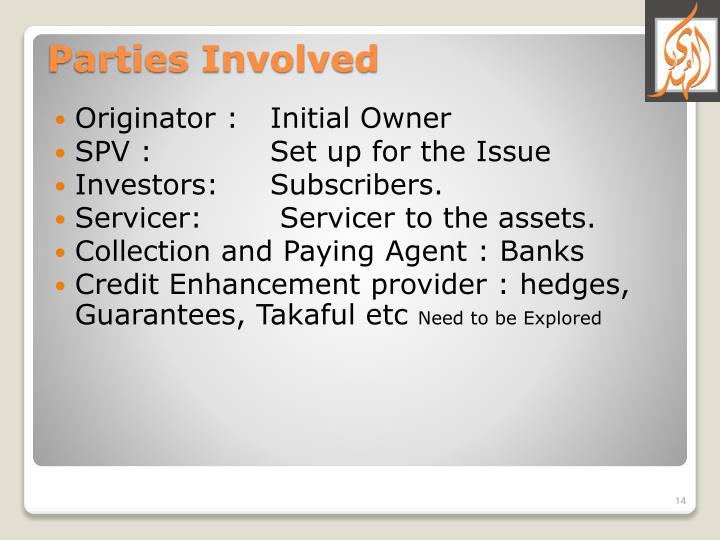 Originator : Initial Owner
