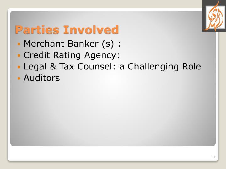 Merchant Banker (s) :