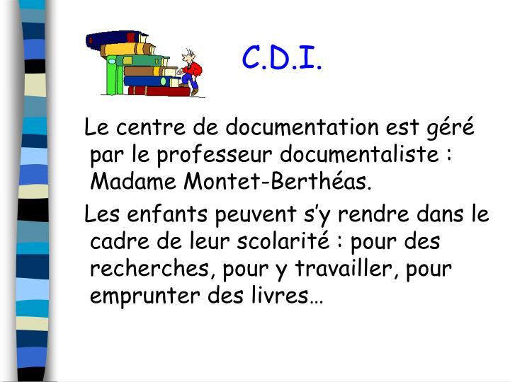 C.D.I.