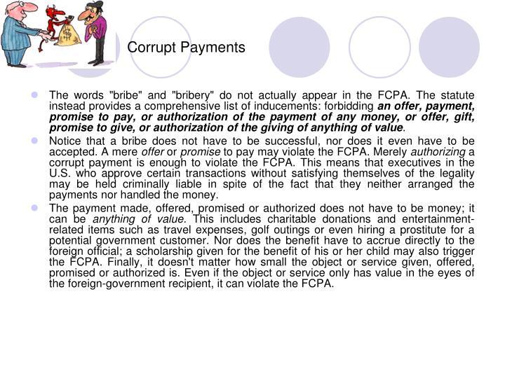 Corrupt Payments