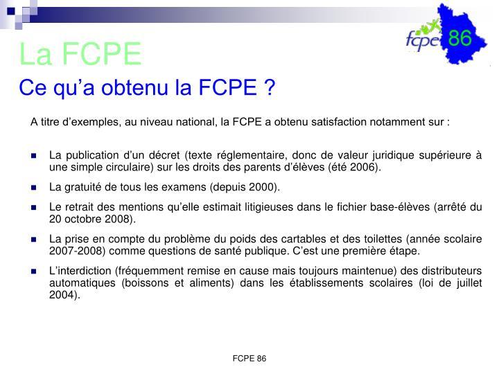 La FCPE