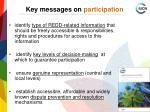 key messages on participation