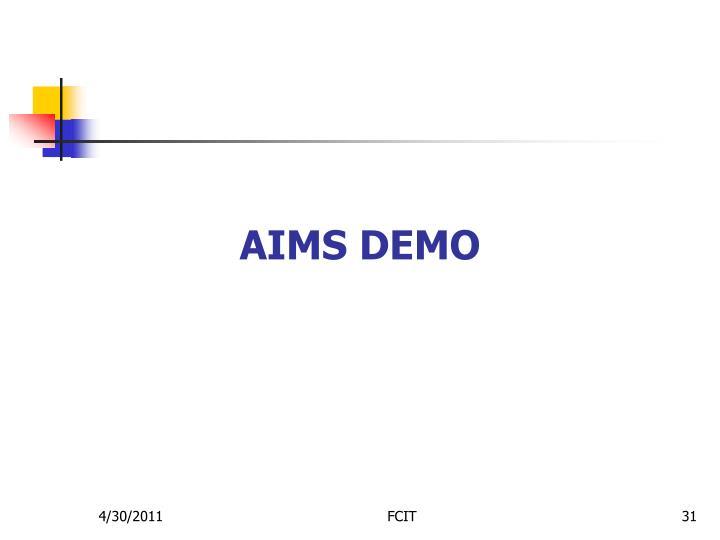 AIMS Demo