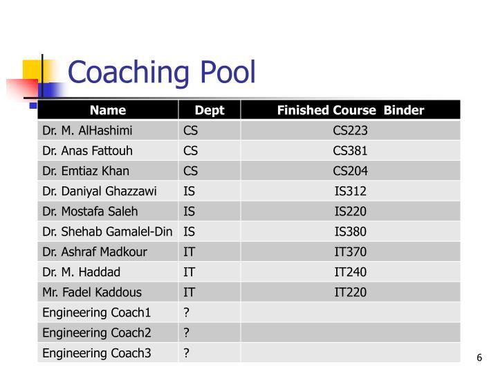 Coaching Pool