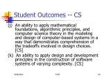 student outcomes cs