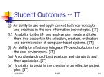 student outcomes it