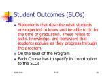 student outcomes slos