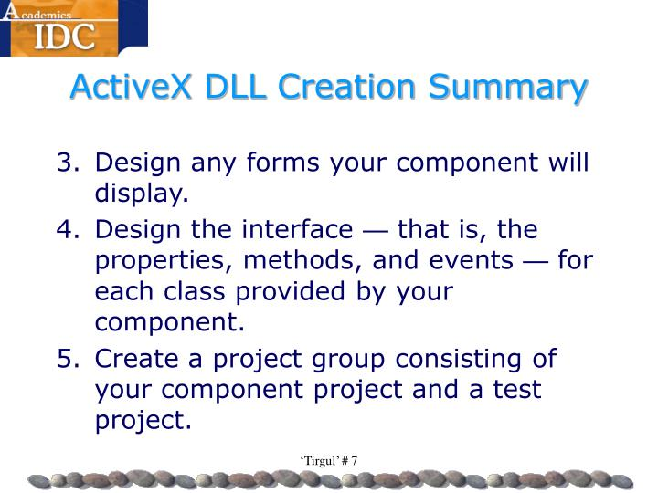 ActiveX DLL Creation Summary