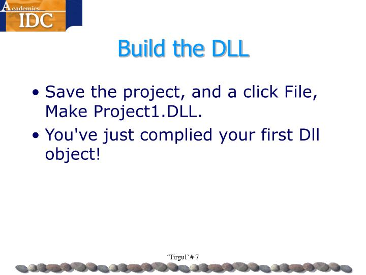 Build the DLL