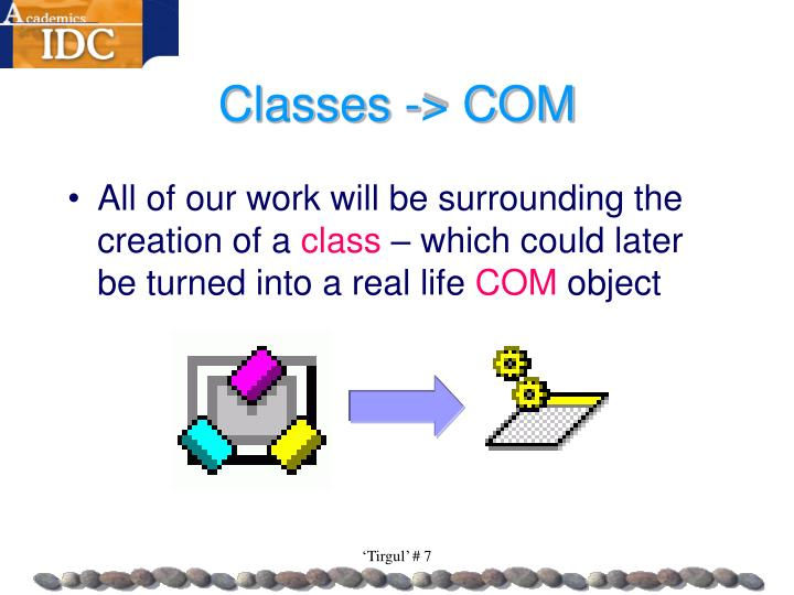 Classes -> COM