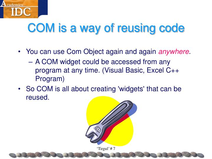 COM is a way of reusing code