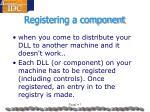 registering a component