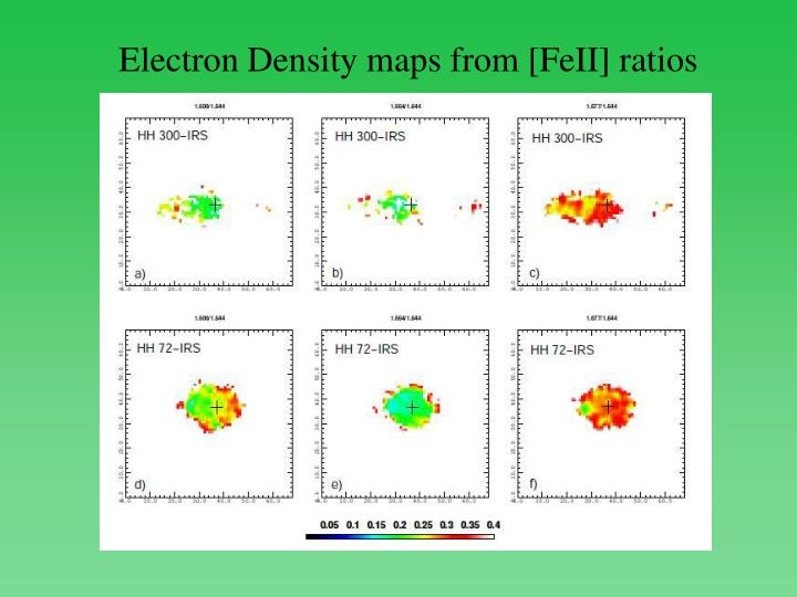 Electron Density maps from [FeII] ratios