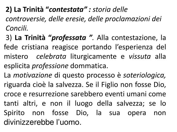 """2) La Trinità """""""
