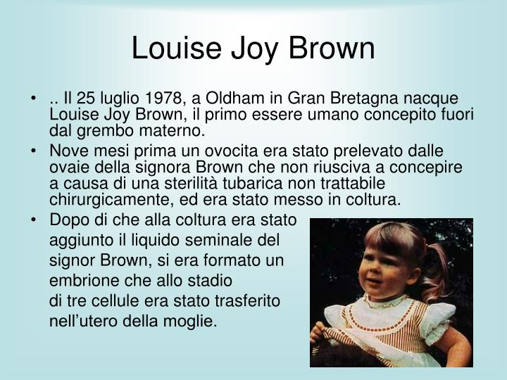 Louise joy brown