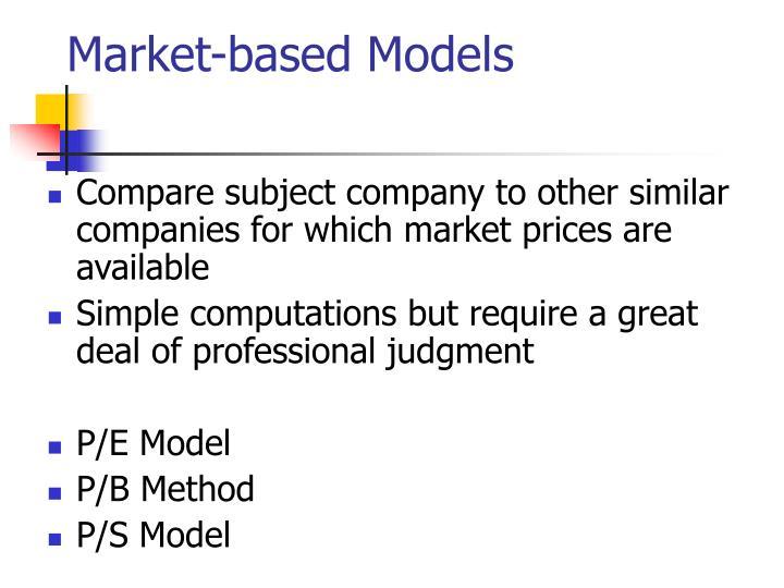 Market-based Models