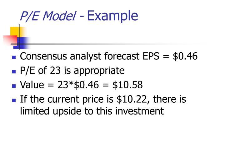 P/E Model -