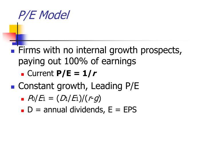 P/E Model