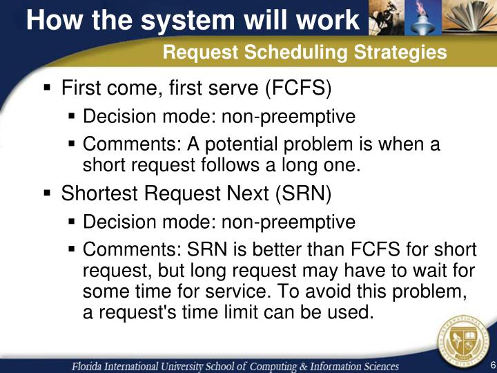 How the system will work