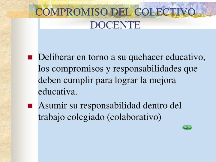 COMPROMISO DEL COLECTIVO DOCENTE