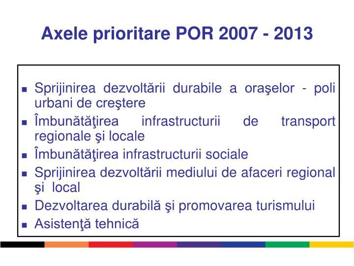 Axele prioritare POR 2007 - 2013