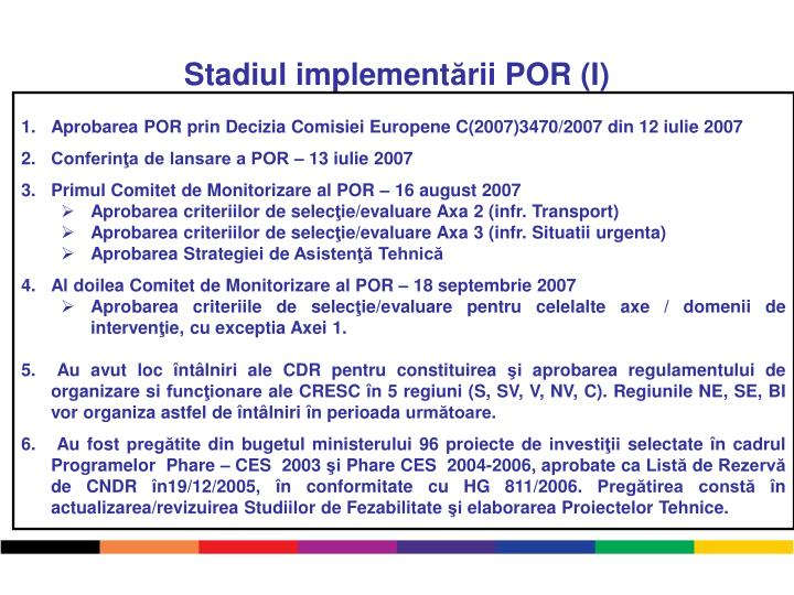 Stadiul implement