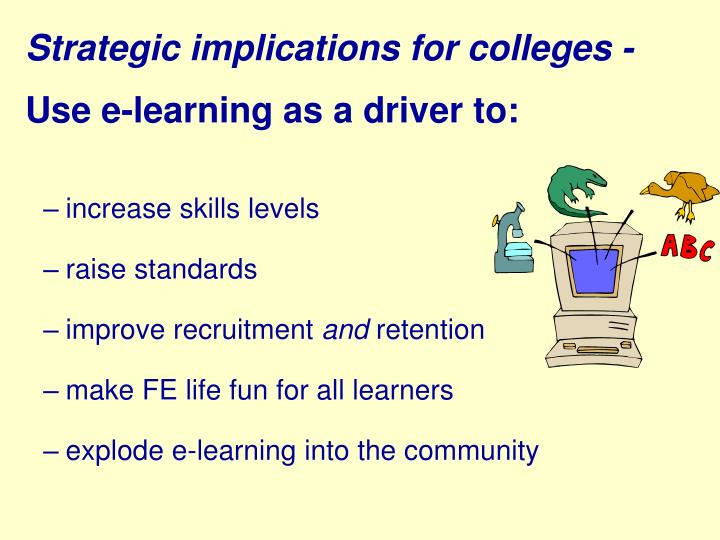 Strategic implications for colleges -