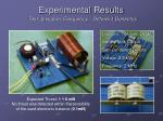 experimental results9
