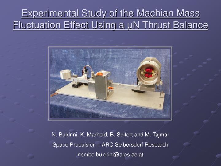 Experimental study of the machian mass fluctuation effect using a n thrust balance