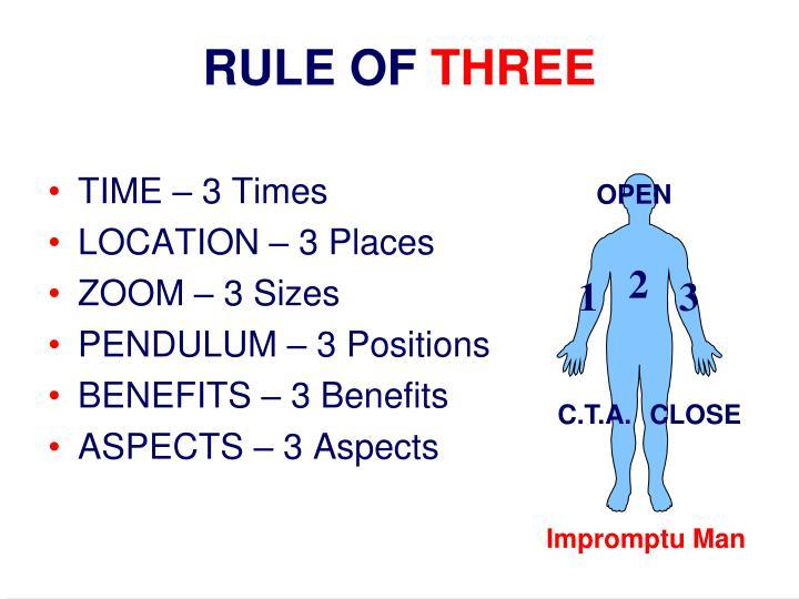 RULE OF