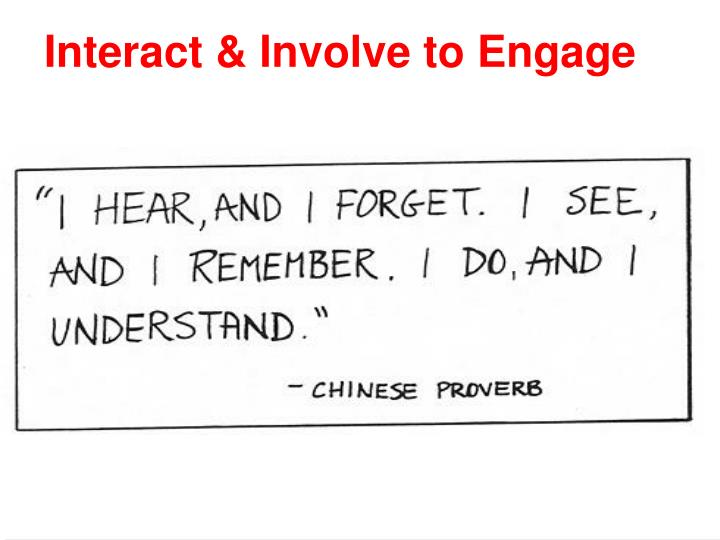 Interact & Involve to Engage