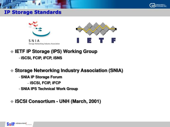 IP Storage Standards