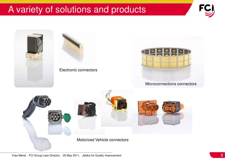 A variety of solutions and products