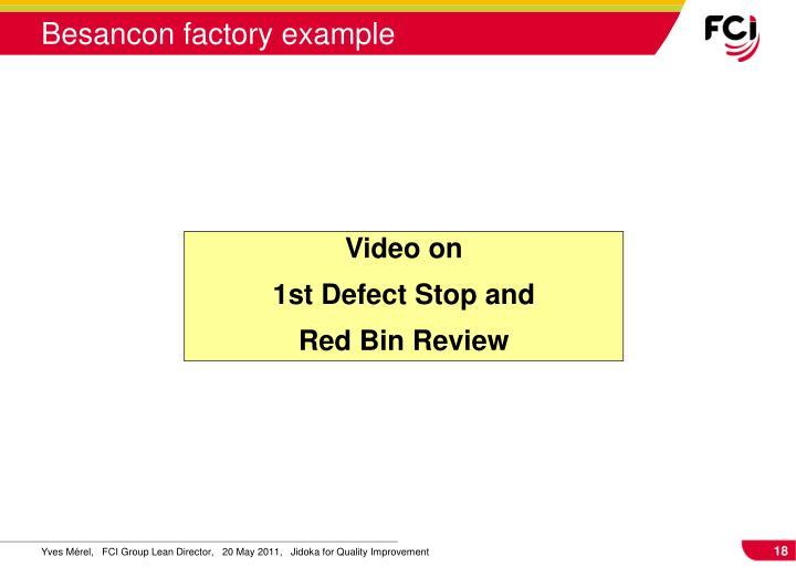 Besancon factory example