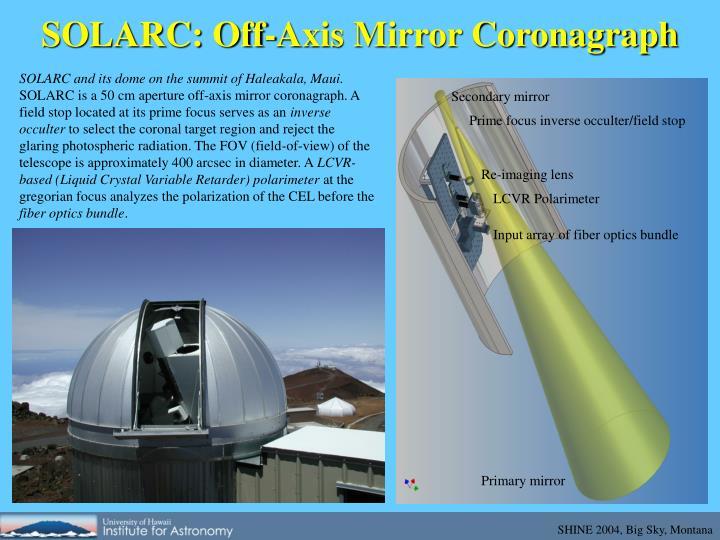 SOLARC: Off-Axis Mirror Coronagraph