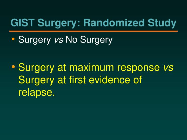 GIST Surgery: Randomized Study