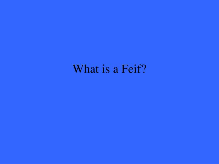 What is a Feif?